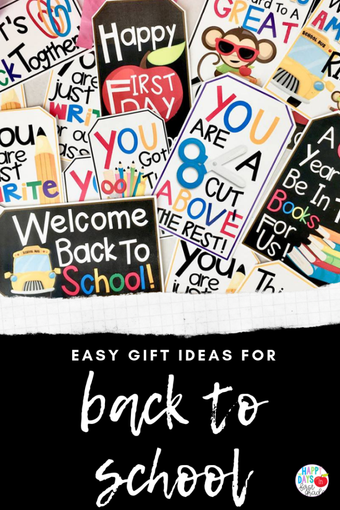 Easy Back to School Gift Ideas | Happy Days in First Grade