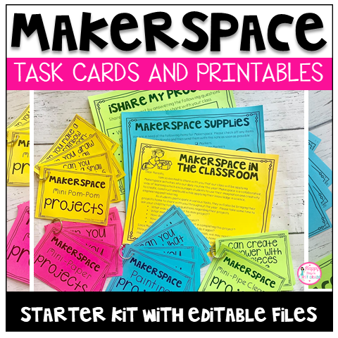 Makerspace Task Cards and Printables